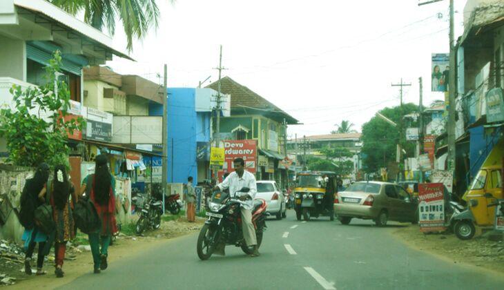 Auf dem Weg von Cochin nach Kollengode
