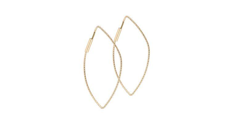 Blattgold für die Ohren: Ohrhänger von Bijou Brigitte