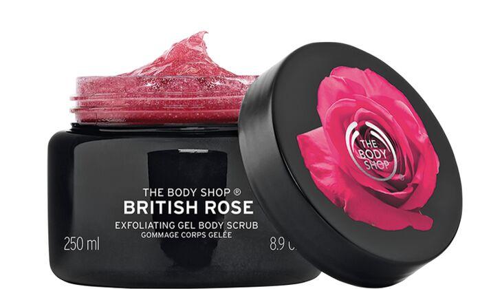 British Rose Exfoliating Gel Body Scrub von The Body Shop