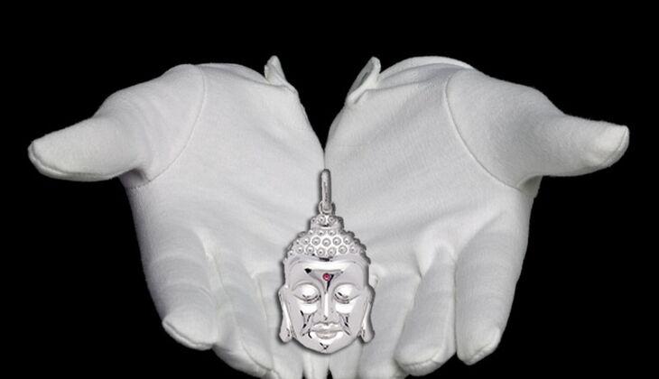 Buddha Kopf-Anhänger von P1 by Leonardo, zirka 60 Euro