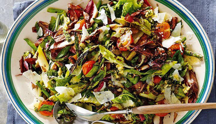 Bunter Salat mit Grillgemüse