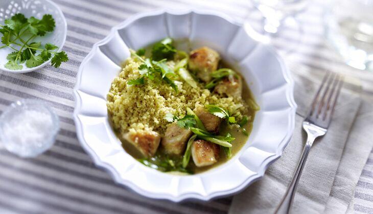 Chicken-Curry mit Couscous
