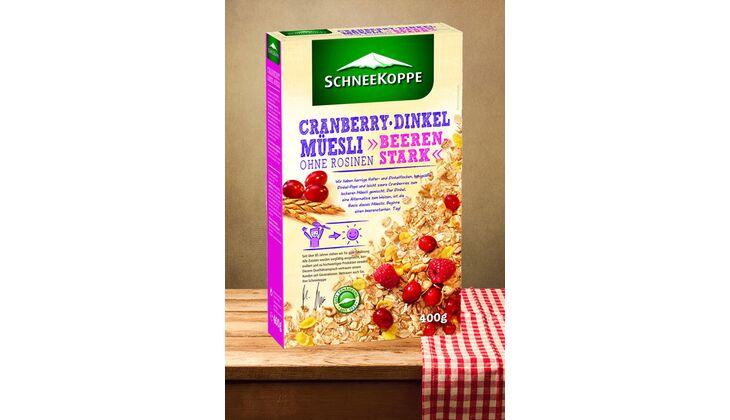 Cranberry-Dinkel-Muesli von Schneekoppe