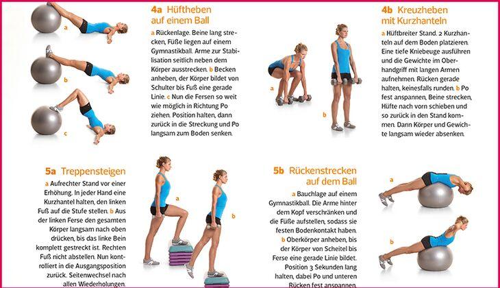 Das perfekte Po-Workout