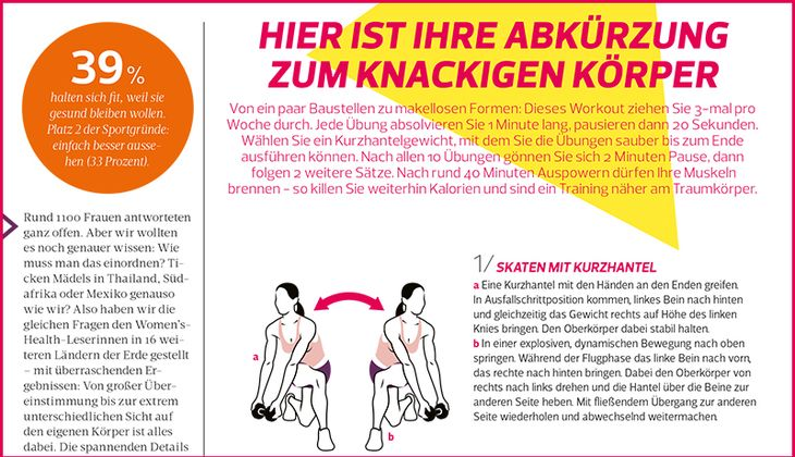 Das perfekte Problemzonen-Workout
