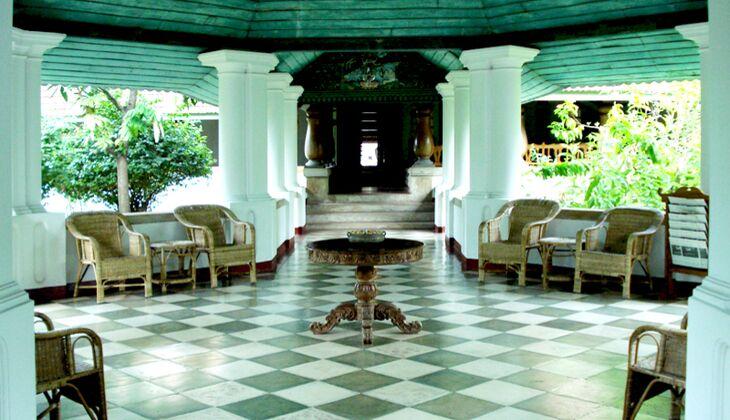 Die Eingangshalle von Kalari Kovilakom