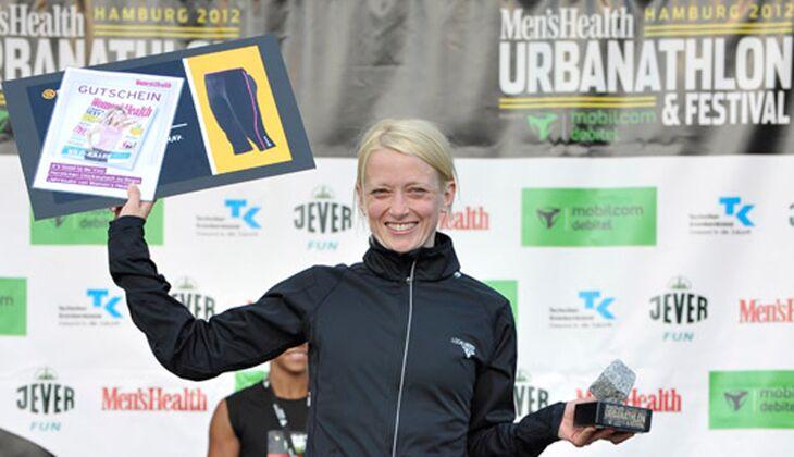Die Gewinnerin der Frauen beim Urbanathlon 2012: Katharina Josenhans