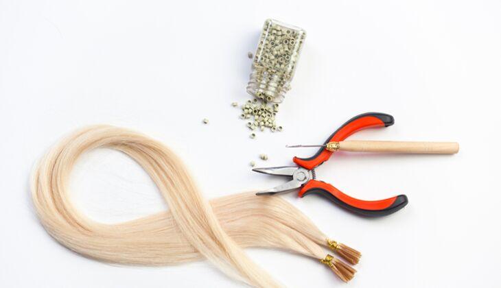 Die Trägerin kann damit rechnen rund 6 bis 8 Wochen etwas von der Haarverlängerung zu haben