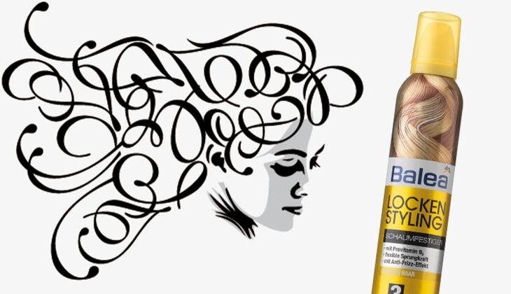 Die besten Haarpflegeprodukte: Balea Lockenstyling Schaumfestiger