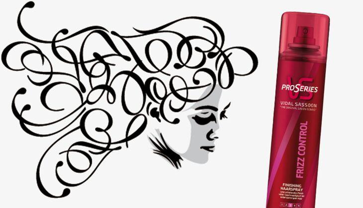 Die besten Haarpflegeprodukte: Frizz Control Hairspray von Pro Series Vidal Sassoon