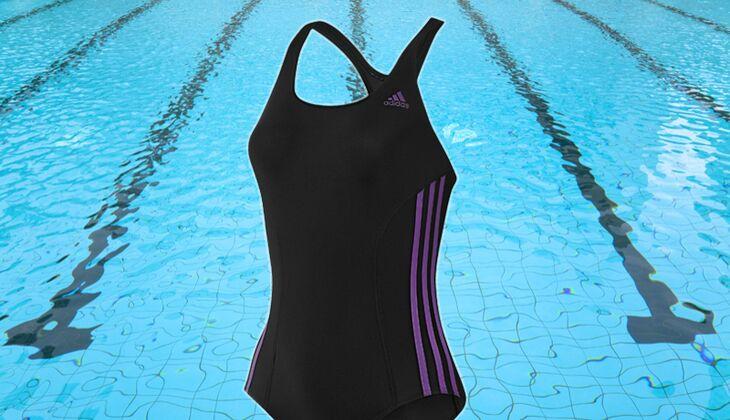 Elastischer Einteiler: Adidas Authentic Onepiece Swimsuit, um 40 Euro