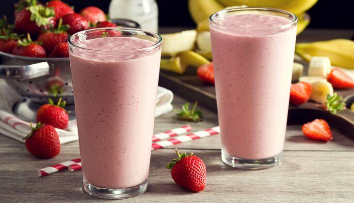 Erdbeer-Erdnussbutter-Shake
