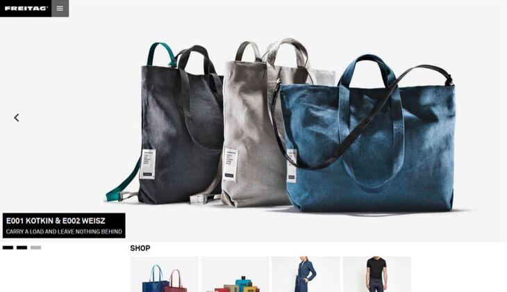 Fair Trade Taschen und Kleidung: Homepage von Freitag.ch