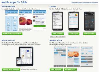 Fddb lässt sich auch auf dem Smartphone mitnehmen, denn Fddb ist mobil mit Apps für Android sowie iPhone & Co vertreten.