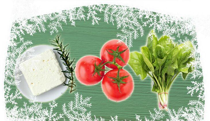 Flammkuchen mit Spinat, Schafskäse und frischen Tomaten