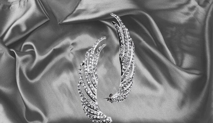 Flügelförmige Ohrringe von H&M, zirka 8 Euro
