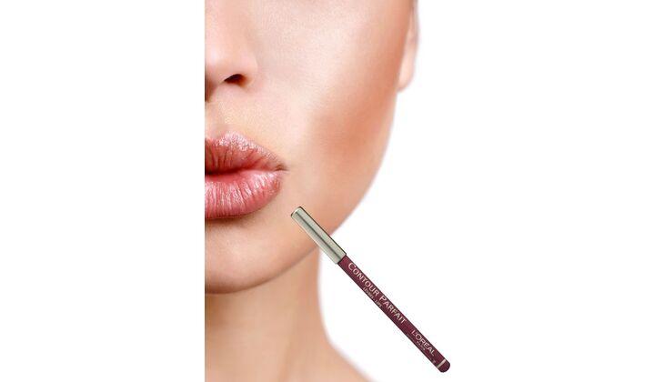 Für volle Lippen: L´Oréal Contour Parfait Lipliner, Farbe Antic Rose
