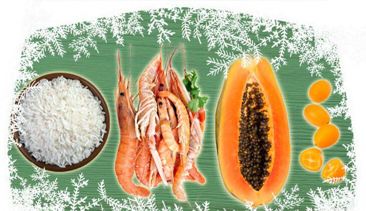 Gebratene Langostinos mit Kumquat-Risotto