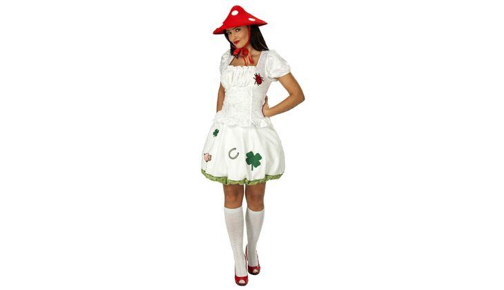 Glückliche Schönheit: Pilz-Kostüm