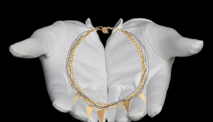 Halskette aus Messing von Made, zirka 65 Euro, über yoox