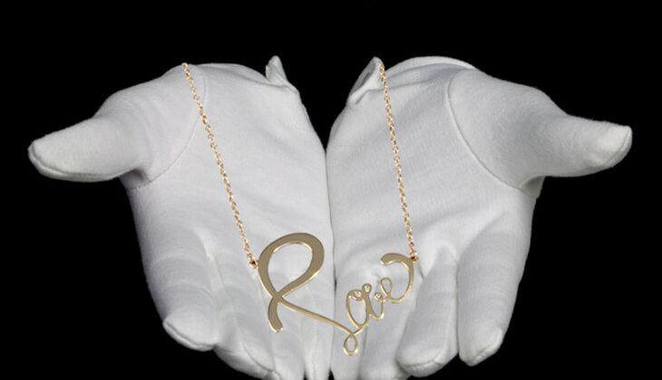 Halskette mit Statement von Namagé, zirka 90 Euro
