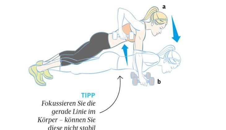 Kardiotraining: Liegestütz-Ruder-Kombi