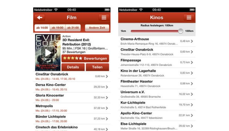 Kinoradar App
