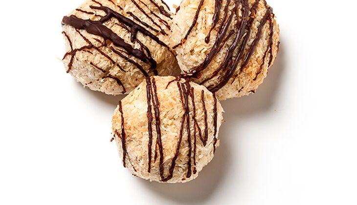 Kokosmakronen ohne Eiweiß