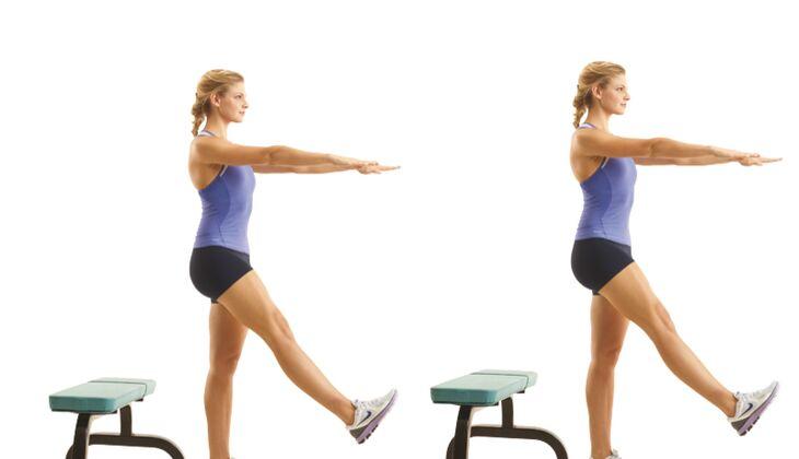 Kraft in den Beinen: Kniebeuge leicht