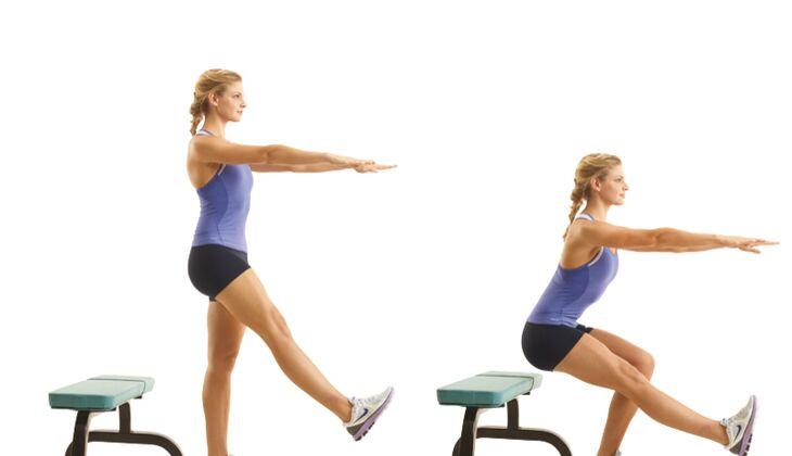 Kraft in den Beinen: Kniebeuge mittel