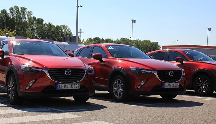 Kurzer Raststopp mit den Mazda CX-3