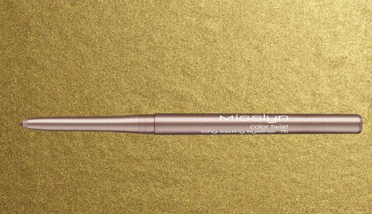 Lidstrich mit Eyeliner: Misslyn color twist long-lasting eyeliner