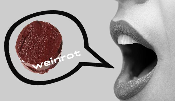 Lippenstift Weinrot