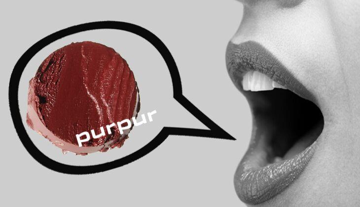 Lippenstift purpur