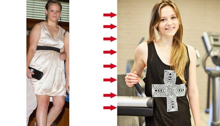 Martina wog voher 7 Kilo, nachher nur noch 54 Kilo