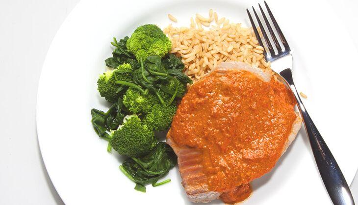 Mediterraner Thunfisch mit Reis