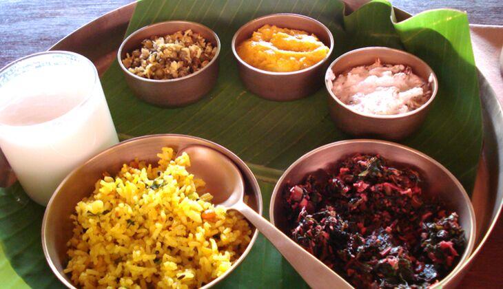 Mein ayurvedisches Mittagessen in Kalari Kovilakom