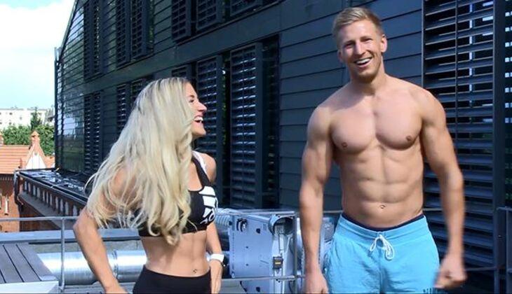 Miss Sexy Bauch 2016 Vanessa Wenk trainiert mit Fitness-Redakteur Nico