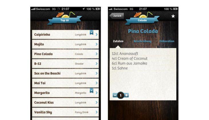 Mixanleitung Cocktail-App