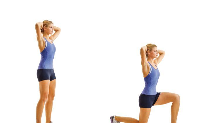 Muskelausdauer: Ausfallschritt