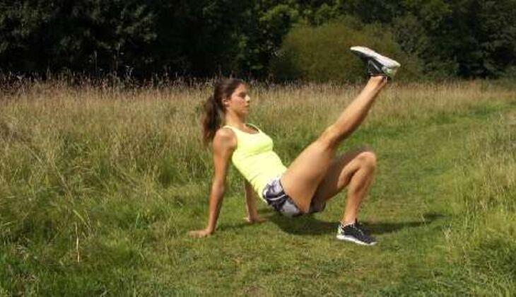 Outdoor-Workout: Frontstütz-Flow