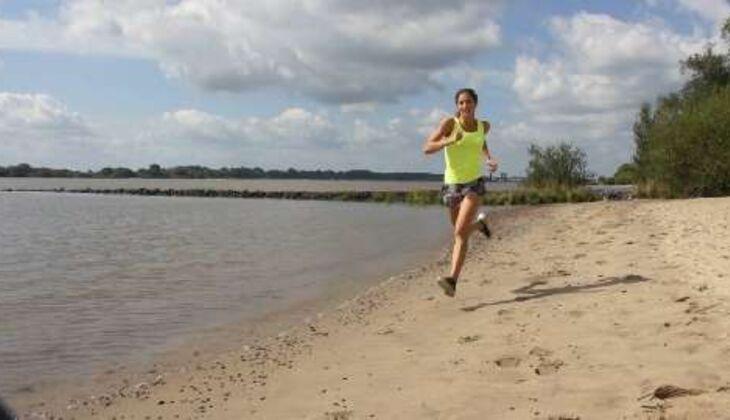 Outdoor-Workout: Sprint am Strand