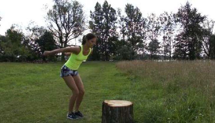 Outdoor-Workout: Zielsprung
