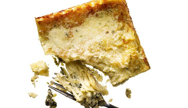 Pesto-Spinat-Lasagne