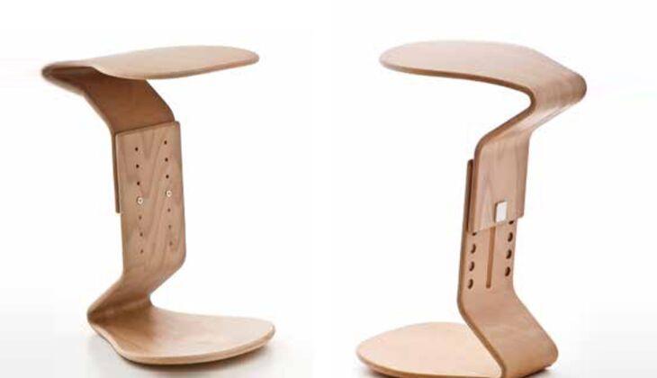 Richtig sitzen im Büro: Ercolino-Hocker aus der Nest Nature-Reihe von Mayer Sitzmöbel