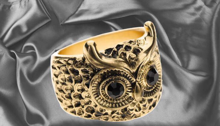Ring im Eulen-Design von Review, zirka 6 Euro