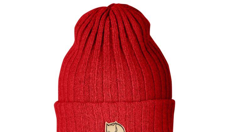 Rote Mütze von Fjällräven für Valentinstag