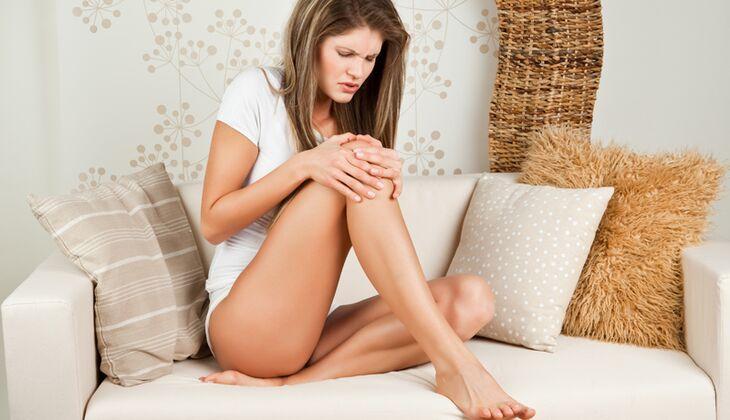 Schmerzen im Knie als Folge von Überbelastung