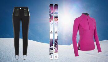 Skibekleidung bei mildem und sonnigem Wetter