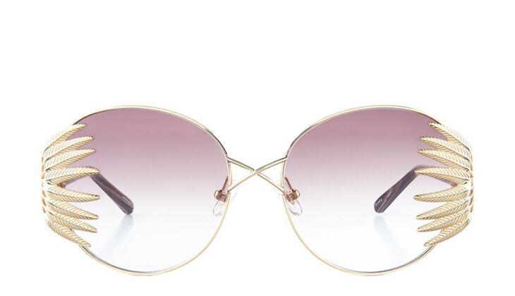 Sonnenbrille von Linda Farrow by Avenue32 in gold